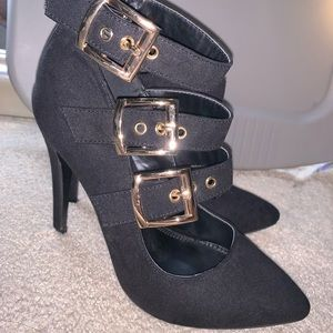 Charlotte Russe black strappy heel